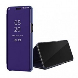 Etui pour Oppo A5 2020 Folio stand miroir violet