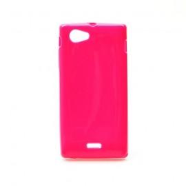 Coque Sony xperia J silicone rose
