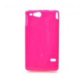 Coque Sony xperia go silicone rose