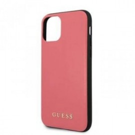 Coque pour Apple iPhone 11 Pro Guess cuir rouge