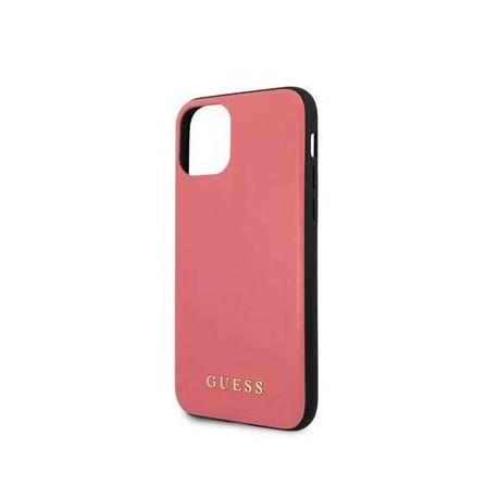 Coque pour Apple iPhone 11 Pro Guess cuir rouge