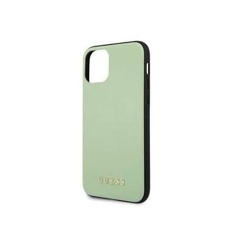 Coque pour Apple iPhone 11 Pro Guess cuir vert