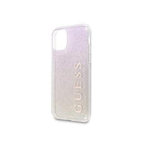 Coque pour Apple iPhone 11 Guess dégradé de Paillettes rose