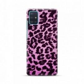 Coque pour Samsung S20 personnalisée motif Leaopard mauve