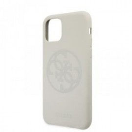 Coque pour Iphone 11 Pro Max Guess silicone vintage logo blanc