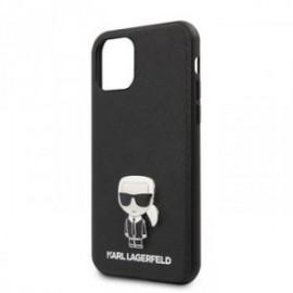Coque pour Iphone 11 Pro Max Karl Lagerfeld Saffiano Iconik noir