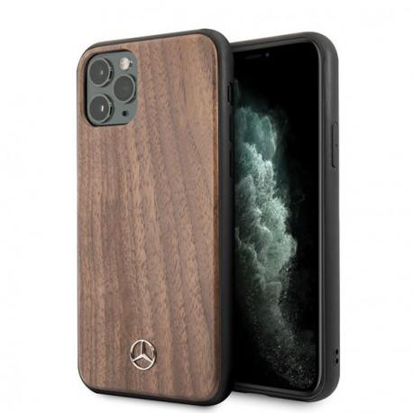 Coque pour Iphone 11 Pro Max Mercedes Wood Line Walnut
