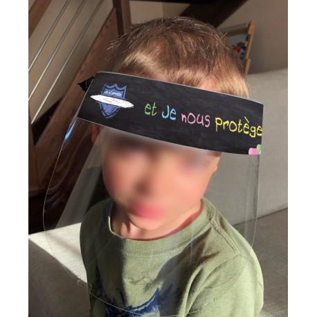 Visière de protection pour enfants avec personnalisation du prénom