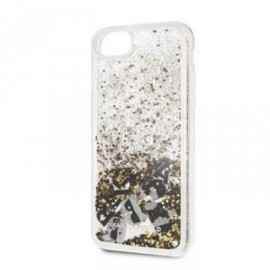 Coque pour Iphone 7/8/SE 2020 Karl Lagerfeld Paillettes Charms or