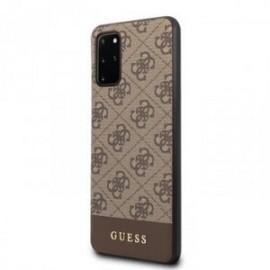 Coque pour Samsung S20 plus G985 Guess marron 4G