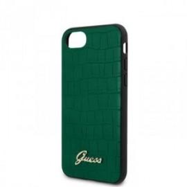 Coque pour Iphone 7/8/SE 2020 Guess croco vert