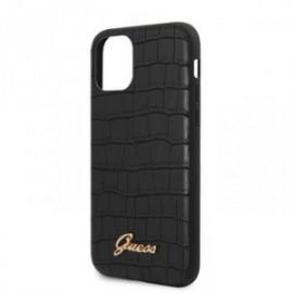 Coque pour Iphone 11 Pro Max Guess croco noir