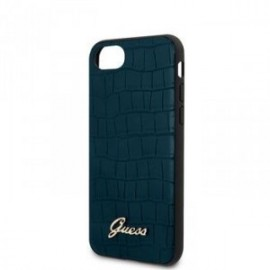 Coque pour Iphone 7/8/SE 2020 Guess croco bleu