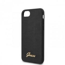 Coque pour Iphone 7/8/SE 2020 Guess Lezard noir