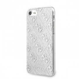 Coque pour Iphone 7/8/SE 2020 Guess Peony 4g argent