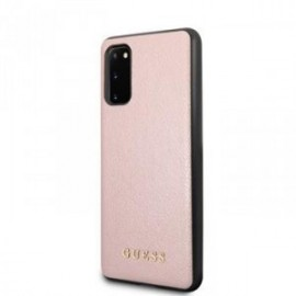 Coque pour Samsung S20 G980 Guess Iridescent rose