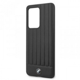 Coque pour Samsung S20 Ultra G988 BMW cuir logo noir