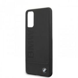 Coque pour Samsung S20 G980 BMW cuir logo noir