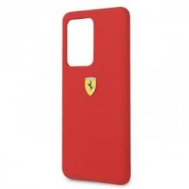 Coque pour Samsung S20 ultra G988 logo Ferrari silicone rouge