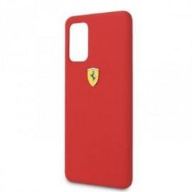 Coque pour Samsung S20 plus G985 logo Ferrari silicone rouge