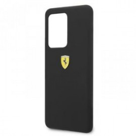 Coque pour Samsung S20 ultra G988 logo Ferrari silicone noir