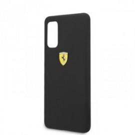 Coque pour Samsung S20 G980 logo Ferrari silicone noir