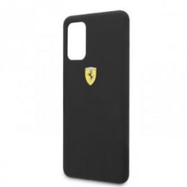 Coque pour Samsung S20 plus G985 logo Ferrari silicone noir