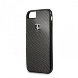 Coque pour Iphone 7/8/SE 2020 Ferrari Heritage carbone noir