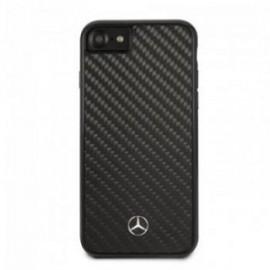 Coque pour Iphone 7/8/SE 2020 Mercedes carbone noir