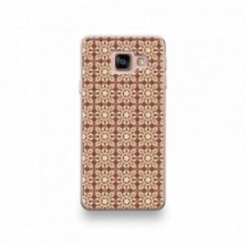 Coque pour iPhone SE 2020 motif Carreaux De Ciment Décor Normandie Marron