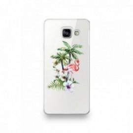 Coque en silicone pour Huawei P SMART 2020 motif Flamant Rose Tropical