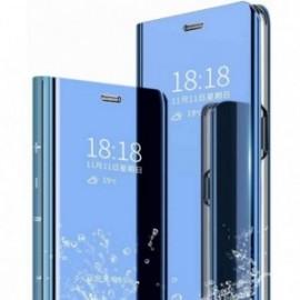 Etui compatible pour Oppo Find x2 neo miroir bleu