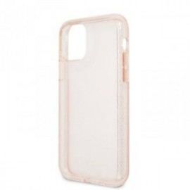 Coque Guess Paillette rose pour Iphone 11