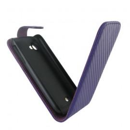 Etui Wiko Peax 2 carbone violet