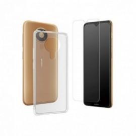 Pack coque souple transparente + verre trempé pour Nokia 5.3