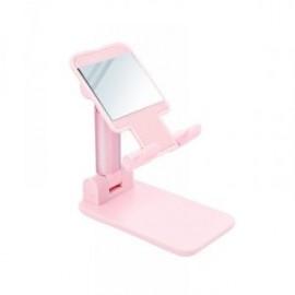 Support de bureau rose téléscopique avec miroir