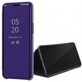 Etui pour Huawei Y5P Folio stand effet miroir violet