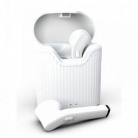 Ecouteurs Bluetooth sans fil pour Huawei Y5P blanc