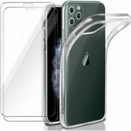 Coque pour Iphone 11 Pro Max souple transparente + 2 films en verre trempé