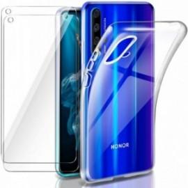Coque pour Honor 20 / Huawei Nova 5T Transparente + 2 x Verre trempé  étui Protecteur Bumper