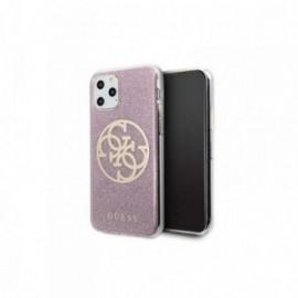 Coque pour Iphone 7/8/SE 2020 Guess Paillette 4G rose or