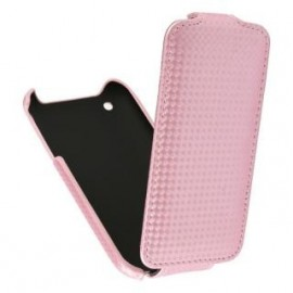 Etui iphone 3G 3GS rose aspect carbone