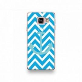 Coque pour Wiko Y70 motif Bleu Ciel Sur Fond Bleu Turquoise