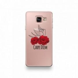 Coque pour Wiko Y70 motif Carpe Diem Rose Rouge Et Hirondelle