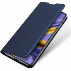 Etui housse Coque Folio stand pour Xiaomi MI Note 10 / Mi note 10 Pro bleu nuit