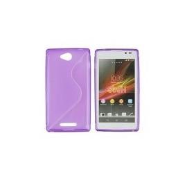 Coque Sony xperia C violette bi-matière