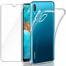 Coque pour Huawei Y6 2019 Transparente + Verre trempé  étui Protecteur Bumper Housse