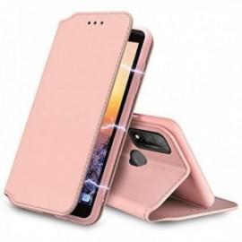 Etui folio pour Huawei P Smart 2020 , Protection Etui Housse Premium ,Fermeture magnétique coloris rose
