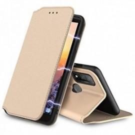 Etui folio pour Huawei P Smart 2020 , Protection Etui Housse Premium ,Fermeture magnétique coloris or