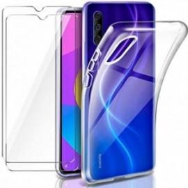 Coque pour Xiaomi Mi A3 / Xiaomi Mi CC9E Transparente + 2 x Verre trempé  étui Protecteur Bumper   Gel